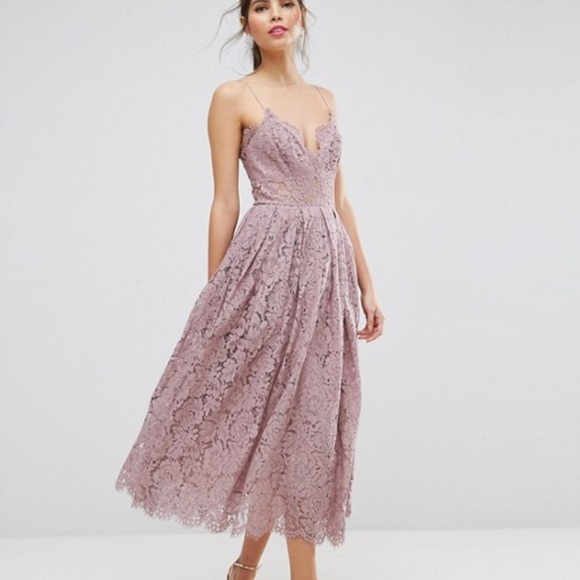 a597dbea4c10 ASOS Dresses | Nwt Lace Midi Prom Dress | Poshmark